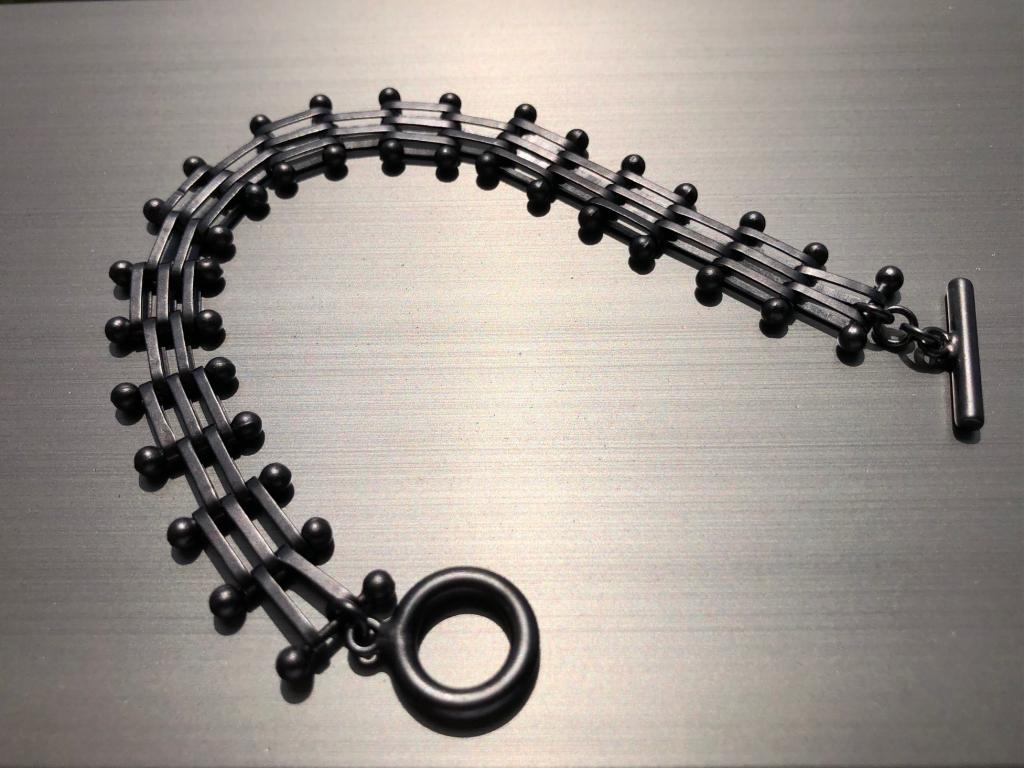 New  Flat  Black  POST-MEX Bracelet  &  Key  Chain